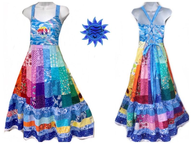 c760a0f556012 Patchwork Rainbow Dress, Phish