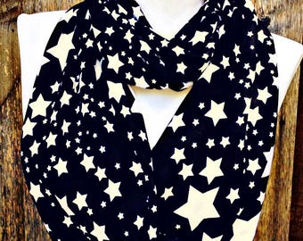 Black Star Scarf Women's Boho circle scarves Scarf Sale Unique handmade Gifts for her Infinity unique scarves, teen scarf girls scarf
