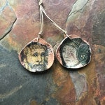Joan Of Arc Earring Charms, Foxpaws, Artisan Handmade Beads