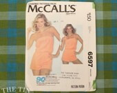 Romper Pattern / Playsuit Pattern / McCall's 6597 / Stretch Fabric / Vintage Sewing Pattern for Women / Size Small /  QUICK LIST