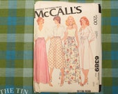 "Vintage Sewing Pattern for Women / Skirt Pattern / McCall's 6389 / Waist 26.5"" / Maxi Skirt / Gathered Skirt / Waistband / QUICK LIST"