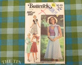 1970's Skirt Pattern / Vintage Sewing Pattern for Women / A Line Skirt / Butterick 4149 / Size 12 / Stretch Top Pattern / QUICK LIST