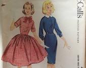 Vintage Sewing Pattern / 1950s Dress Pattern / McCall's 4932 / Size 12 Bust 21 / Girls Dress Pattern / Full Skirt Dress / Slim Dress