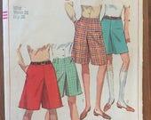 "Simplicity Shorts Pattern #7212 Waist 26""  Vintage 1960s - Vintage Simplicity Pattern / Vintage Shorts / Vintage Shorts Pattern"