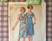 Vintage Sewing Pattern / Simplicity Dress Pattern / Simplicity 9330 / Bust 36 / Tie Collar Dress / Simplicity Jiffy / 1970s Fashion
