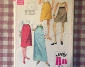 Vintage Sewing Pattern / Simplicity Skirt Pattern / Simplicity 7725 / Waist 24 / Vintage A Line Skirt / Simplicity Pattern / 1960s Fashion