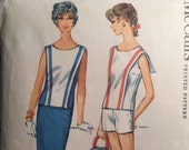 Vintage 1959 McCall's Blouse Pattern #5303 Size 14 Bust 34  Vintage McCall's Pattern / 50s McCall's / Nautical Pattern / Sailor Collar