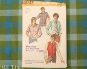 Vintage Sewing Pattern / Men's Shirt Pattern / Simplicity 5047 / Neck 16 / Chest 42 / 1970s Men's Pattern / Vest Pattern /QUICK LIST