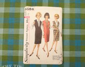 1960's Jumper Pattern / Vintage Sewing Pattern for Women / Jumper and Blouse / Simplicity 5584 / Bust 34 / Jumper Pattern / QUICK LIST