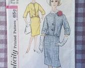 "Skirt and Jacket Pattern / 1960s Simplicity Pattern #4812 Size 16 Bust 36""  Vintage Simplicity Pattern / 60s Pattern / Boxy Jacket"