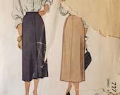 "Vintage 1940's McCall's Skirt Pattern #7275 Waist Size 28""  Vintage McCall's Pattern / 40s McCall's"