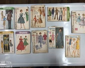 Vintage Sewing Patterns / Bust 34/35 / Lot of 10 / Lot #P14 / Simplicity 5465 / 7662 / 3079 / 6452 / 8451 / 4596 / 4432 / 7575 / 4184 / 7985