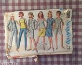 Vintage 1960s Simplicity 7019 Size 12 Bust 32  Vintage Simplicity / 60s Simplicity / 60s / Separates Pattern / Skirt Pattern / Blazer