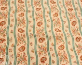 Vintage Fabric / Paisley Fabric / Striped Fabric / 1 5/8 yards / Fabric Yardage / Cotton Fabric / Floral Stripe / Vintage Stripe