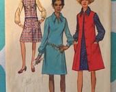 "1970s Dress Pattern Vintage Simplicity #9028 Size 18 Bust 40""  - Vintage Simplicity / 70s Simplicity / 70s Pattern"
