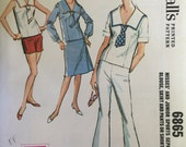 1960's Women's Sailor Outfit / Vintage Sewing Pattern / Bell Bottoms Pattern / McCall's 6865 / Size 11 Bust 31.5 / UNUSED / Sailor Blouse