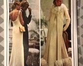 """Vintage 1970s Vogue Paris Original Givenchy 1042 Dress & Floor Length Coat / Size 12 Bust 34"""" / Vintage Vogue / Vogue 1042 / With Label"""