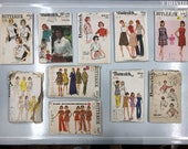 Vintage Sewing Patterns / Bust 34 / Lot of 10 / Lot #P8 / Butterick 4295 / 4309 / 9237 / 4490 / 3324 / 3078 / 5587 / 5341 / 5842 / 8097