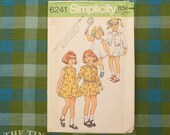 Girl's Sewing Pattern / Vintage Sewing Pattern / Simplicity 6241 / Bust 23 / Size 4 Dress / Dress Pattern / Toddler's Dress / QUICK LIST