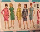 Vintage 1960s Simplicity 6920 Size 14 Bust 34 - Vintage Simplicity / 60s Simplicity / 60s / Sheath Dress / Straight Dress