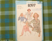 Secretary Blouse Pattern / 1970's Blouse Pattern / Vintage Sewing Pattern / Simplicity 8397 / Size 22 1/2 & 24 1/2 / Bow Blouse / QUICK LIST