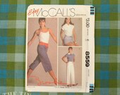Drawstring Pants Pattern / Shorts Pattern / Brooke Shields Pattern / Vintage Sewing Pattern / McCall's 8559 / Waist 25 26 / QUICK LIST
