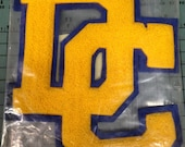 Vintage Applique / DC Applique / Letterman Jacket / High School Letters / Vintage Letter / Sew on Applique / Thick Pile Applique / Patch