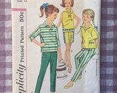 50s Girls Pattern / Top Pattern / Shorts Pattern / Pants Pattern / Vintage Sewing Pattern / Simplicity 3524 / Girls Size 12 / Bust 30
