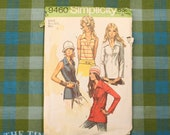 Vintage Sewing Pattern / Collared Blouse Pattern / Simplicity 9460 / Size 8  / Bust 31.5 / 70s Blouse Pattern / QUICK LIST