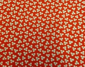 Red and White Printed Fabric - 1 Yard - Cotton Fabric / Red and White Fabric / Printed Fabric / Red Fabric / Floral Print Cotton