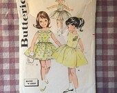 1960s Butterick #9783 Girl's Dress Pattern Bust 24  - Girl's Vintage Clothes Pattern / Collared Dress Pattern / Vintage Girls Dress