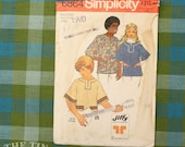 Vintage Sewing Pattern for women / Unisex Pullover Pattern / Pullover Shirt / Simplicity 6864 / Bust 32-33.5 / 1970s Pattern / QUICK LIST