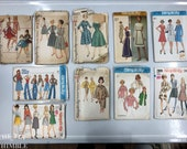 Vintage Sewing Patterns / Bust 36 / Lot of 10 / Lot #P9 / Simplicity 7808 / 7912 / 5749 / 9606 / 3227 / 5669 / 7759 / 7391 / 3081 / 6202
