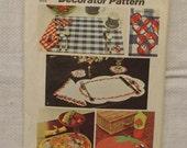 Vintage Pattern / Simplicity 5473 / Placemat Pattern / Napkin Pattern / Napkin Ring Pattern / Coaster Pattern / 1970s Home Decor