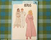 Girls Pajama Pattern / Vintage Sewing Pattern / Simplicity 8765 / Bust 28 29/ Nightgown Pattern / Robe Pattern / Vintage Pajamas /QUICK LIST
