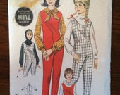 "1960s Butterick Girl's Jumpusit and Blouse Pattern #3356 Sz 8 Bust 26"" - 1960s Butterick / 60s Butterick / 19"