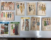 Vintage Sewing Patterns / Bust 34 / Lot of 10 / Lot #P16 / Simplicity / 5644 / 6920 / 7842 / 9080 / 4296 / 6219 / 3960 / 4429 / 4173 / 8153