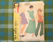 1970's Jumper Pattern / Vintage Sewing Pattern for Children / Girl's Pants Pattern / McCall's 3891 / Bust 34.5 / Tunic Pattern / QUICK LIST