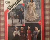 "1980s DOLL Clothes Pattern / Simplicity 6097 / 11 1/2"" Doll - Vintage Barbie Clothes / Brooke Shields Doll / Mini-Mod Doll / Eugene Doll"