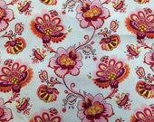 Vintage Floral Printed Cotton Fabric - 1 Yard - Fabric Yardage / Fabric Yardage / Cotton Fabric / 1960s Fabric / 60s