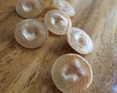 Tan Vintage Glass Buttons - Six/ 1930s Buttons / 1940s Buttons / Vintage Glass Buttons / Vintage Sewing Notions / Vintage Sewing Supplies