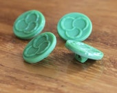 Glass Vintage Buttons - Four/ 1930s Buttons / 1940s Buttons / Vintage Glass Buttons / Vintage Sewing Notions / Vintage Sewing Supplies