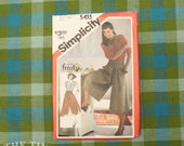 Culottes Pattern / 1980's Sewing Pattern / Vintage Sewing Pattern for Women / Simplicity 5433 / Waist 26.5  / Ricki for Finity / QUICK LIST