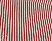 Red and White Stripe Fabric / Cotton Fabric -1 5/8 Yard - Stripes / Cotton Stripe / Red White / Striped Fabric / Candy Stripe