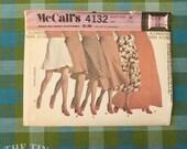 Vintage Sewing Pattern for Women / Skirt Pattern / McCall's 4132 / Maxi Skirt / Waist 25 / Midi Skirt Pattern / A Line Skirt / QUICK LIST