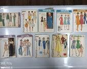 Vintage Pattern Lot / Bust 35/36/37 / Lot of 10 / Lot P17 / Simplicity / 7656 / 1928 / 6348 / 4605 / 9579 / 7027 / 7170 / 5927 / 5904 / 6191