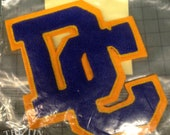 Vintage Applique / DC Applique / Letterman Jacket / High School Letters / Vintage Letter / Sew on Applique / Thick Pile Applique