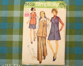 Vintage Sewing Pattern / Women's Maternity Pattern / Maternity Clothes / Simplicity 8459 / Bust 40 / Maternity Pants Pattern /QUICK LIST