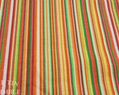 Striped Rainbow Fabric / Vintage Fabric / Stripe Fabric -1  Yard- Cotton Fabric / Multi Color Fabric / Striped Cotton / Rainbow Stripe