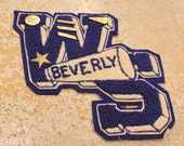 Vintage Applique / Cheerleader Patch / Letterman Jacket / Beverly High School / Vintage Letter / Cheerleader Applique / Patch / WS / Pin